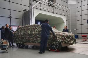 爱驰汽车首款SUV风洞测试 力争0.29以内