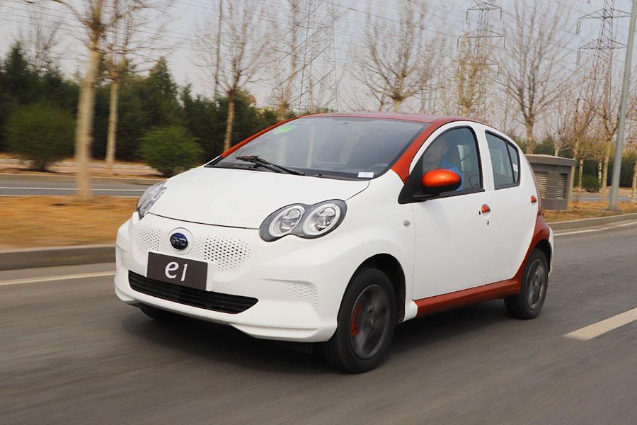 试驾纯电动小车比亚迪e1 城市通勤新选择