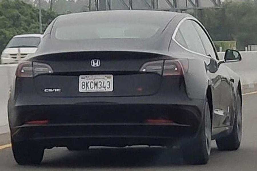 """全新""""思域SI"""" 纯电版露面?疑似换标特斯拉Model 3"""